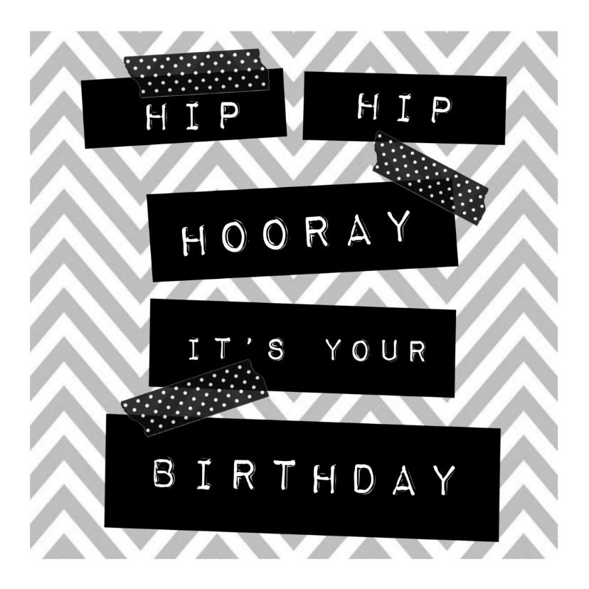 Verjaardagskaarten - hippe verjaardagskaart met washi tape
