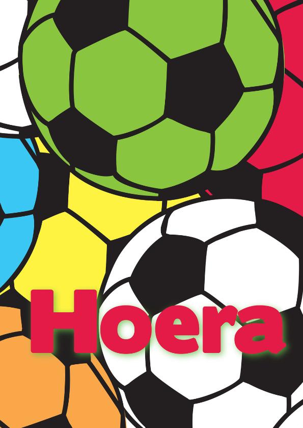 Verjaardagskaarten - Hoera jarig voetbal-ByF