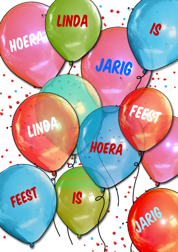 Verjaardagskaarten - Hoera Linda is jarig