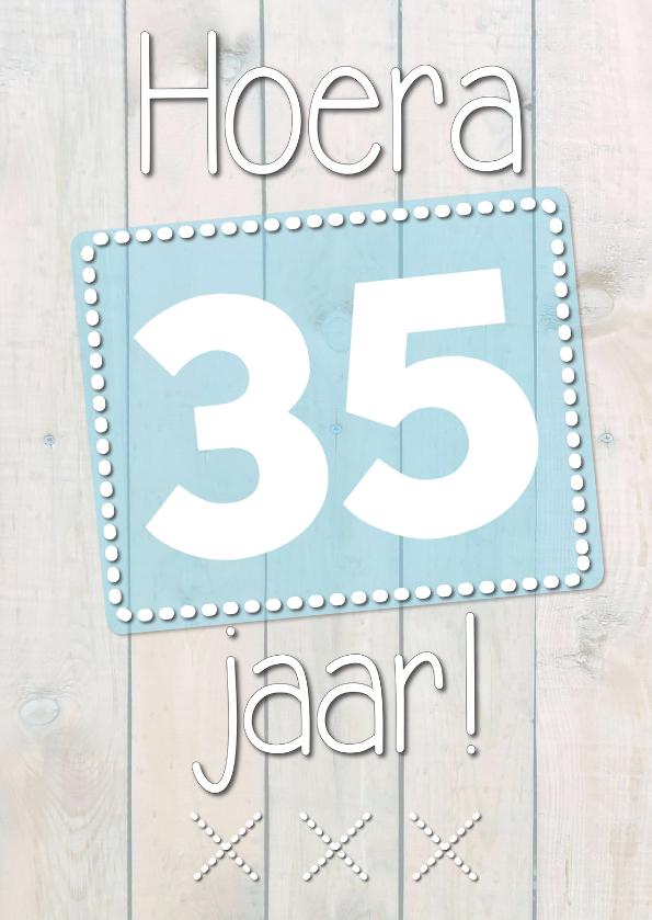 Verjaardagskaarten - Hoera met eigen leeftijd-ByF