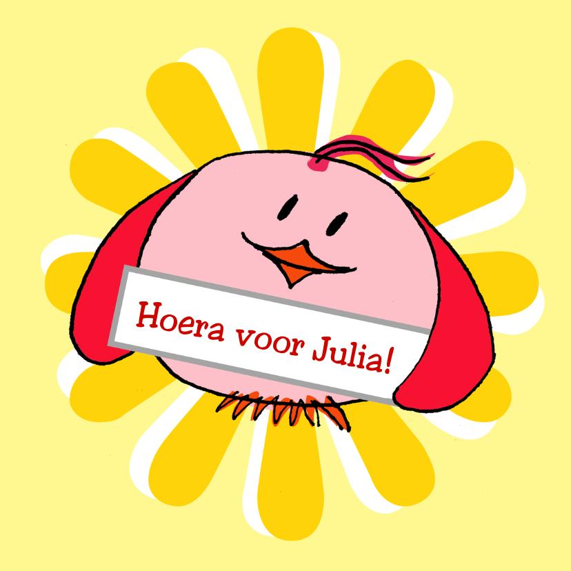 Verjaardagskaarten - Hoera zegt de vogel!