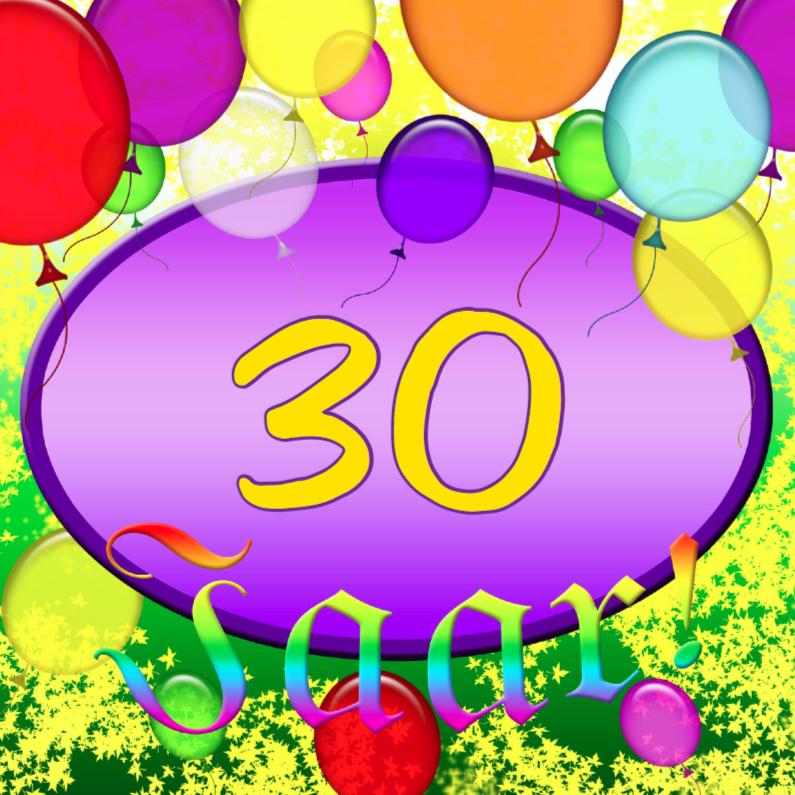 Verjaardagskaarten - Hoeveel jaar 30