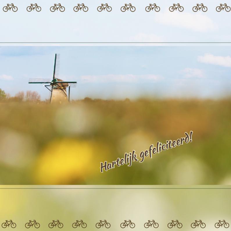 Verjaardagskaarten - Hollands landschap met molen