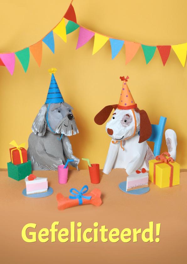 Verjaardagskaarten - Hondjes verjaardag