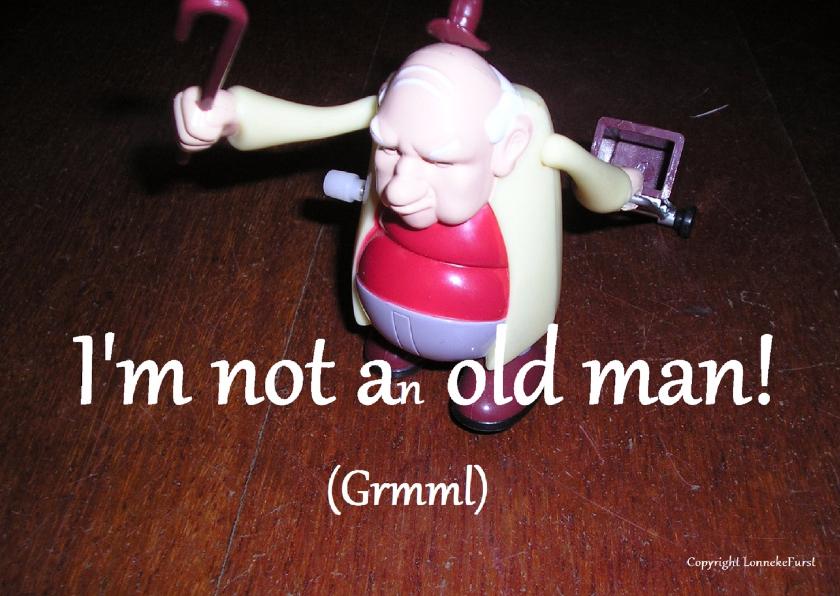 Verjaardagskaarten - Ik ben geen oude man- 50 jaar-60 jaar