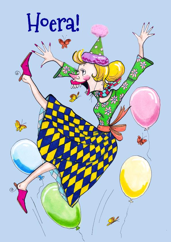 Verjaardagskaarten - In de lucht