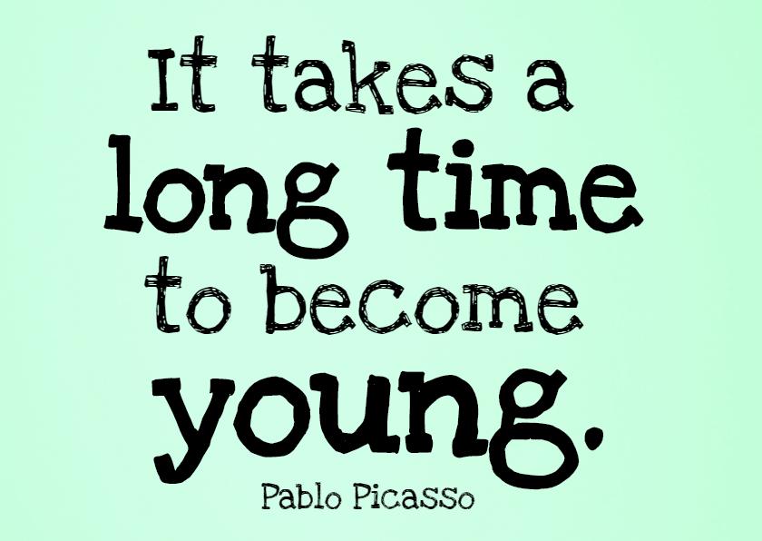 Verjaardagskaarten - It takes a long time