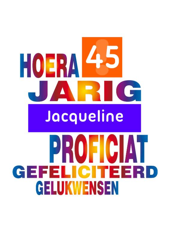 Verjaardagskaarten - jarig 41 - 49 regenboog