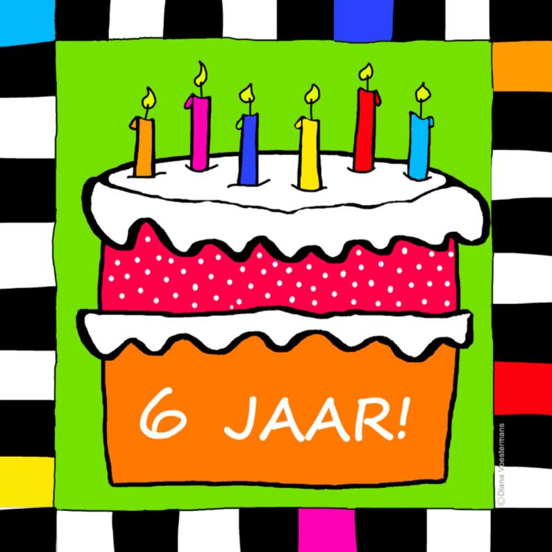 Verjaardagskaarten - Jarig 6 jaar
