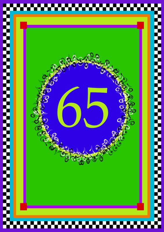 Verjaardagskaarten - Jarig 65  jaar