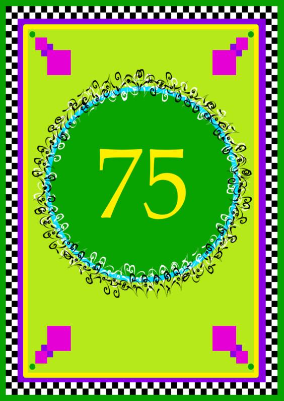 Verjaardagskaarten - Jarig 75 jaar