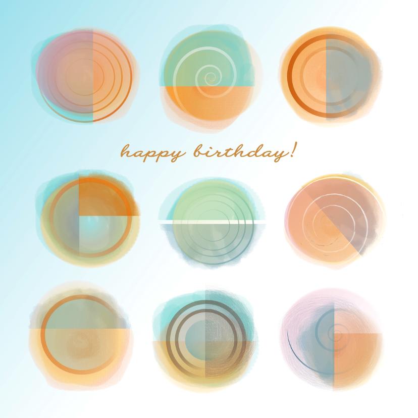 Verjaardagskaarten - Jarig - Abstract Sunshine II-MW