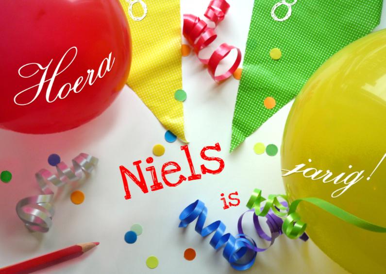 Verjaardagskaarten - Jarig Ballonnen