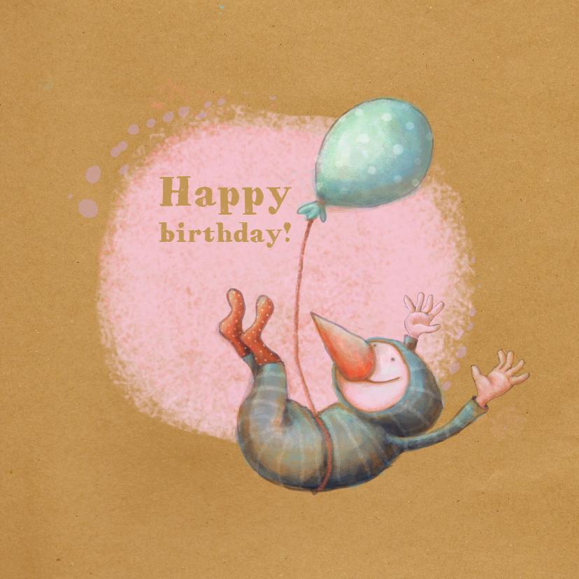 Verjaardagskaarten - Jarig - Birdman Ballon - MW