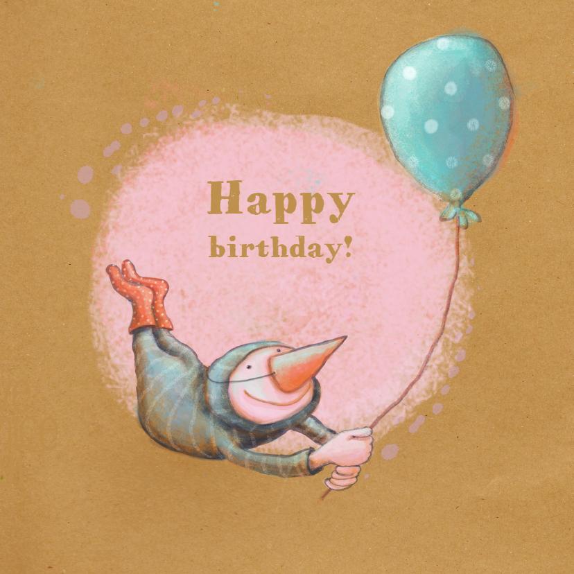 Verjaardagskaarten - Jarig - Birdman Swing- MW