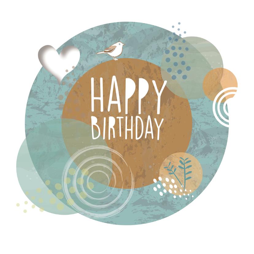 Verjaardagskaarten - Jarig - Birthday Circles - MW