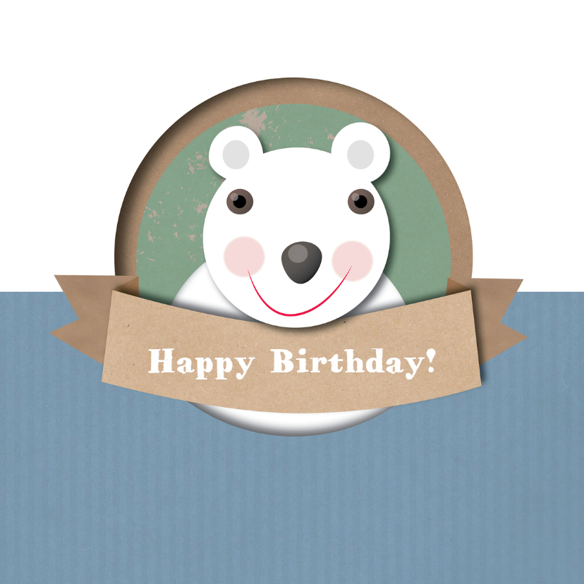 Verjaardagskaarten - Jarig - Blije Beer - MW