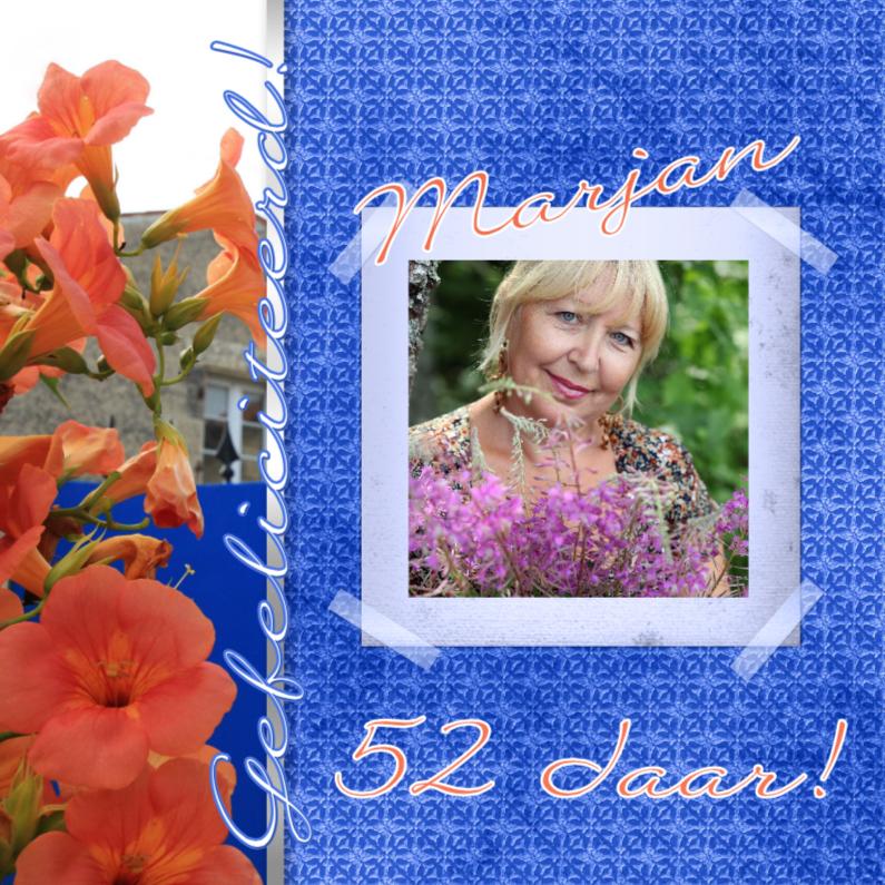 Verjaardagskaarten - Jarig bloemen zelf aanpassen e