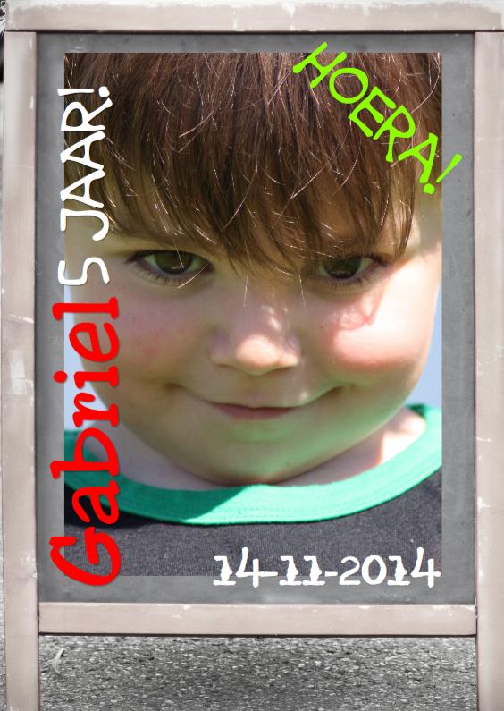 Verjaardagskaarten - jarig bord plaats foto en of tekst