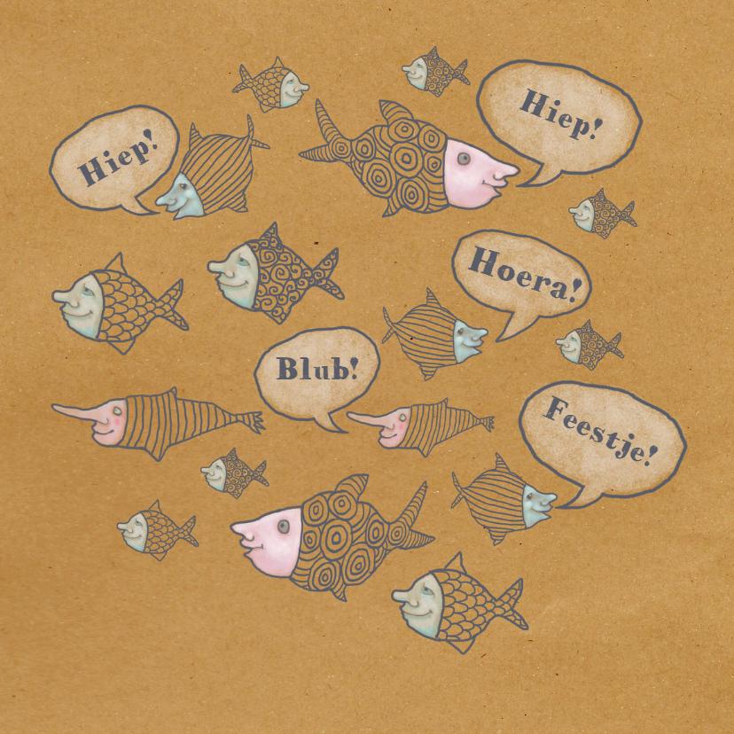 Verjaardagskaarten - Jarig - Feest vol vissen - MW