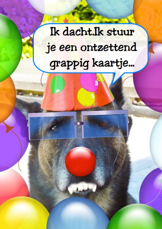 Verjaardagskaarten - Jarig grappiger kan niet