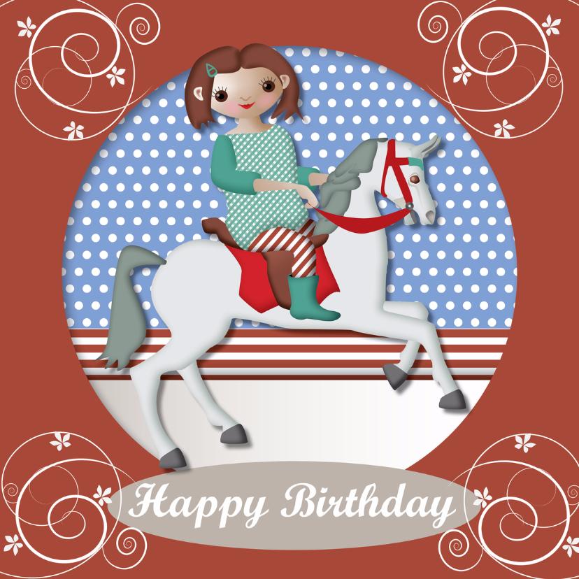 Verjaardagskaarten - Jarig - Happy Girl Birthday- MW