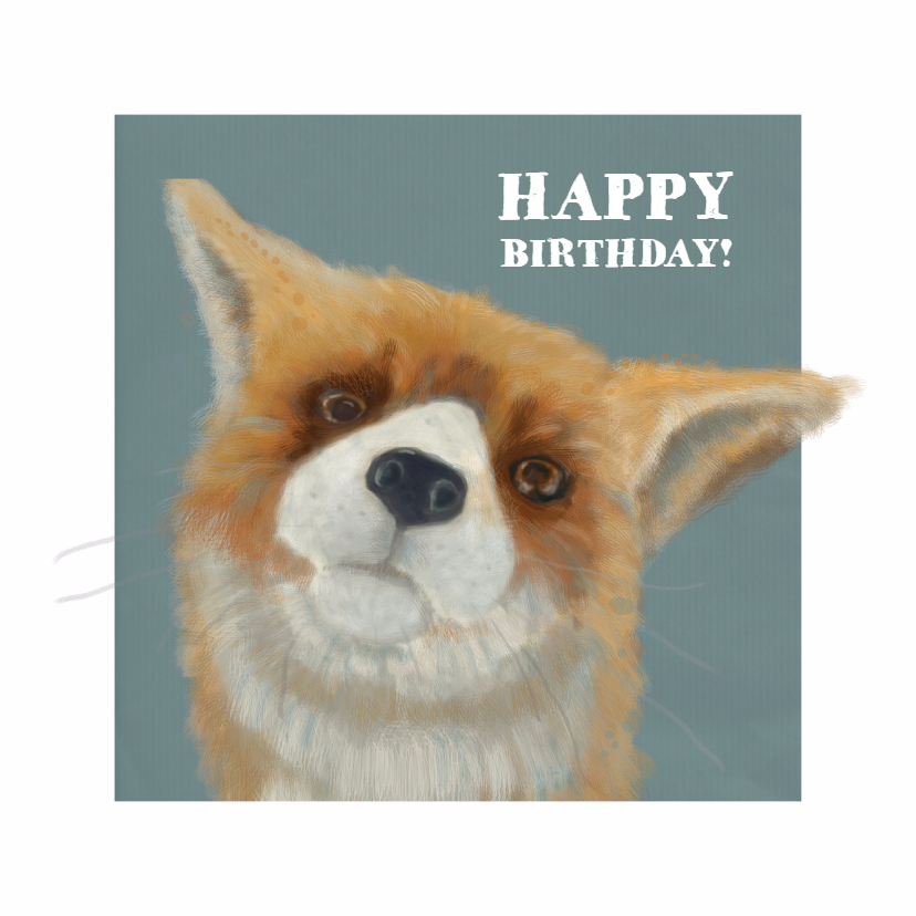 Verjaardagskaarten - Jarig - Mister Fox Blue - MW