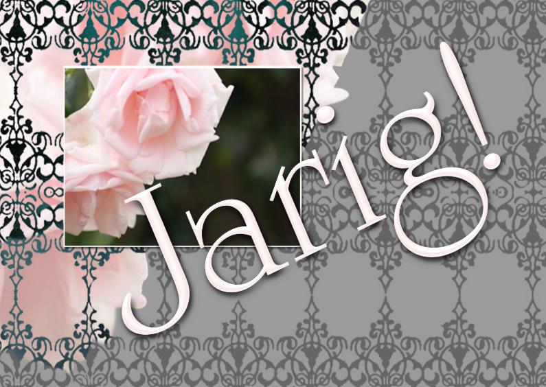 Verjaardagskaarten - Jarig rozen