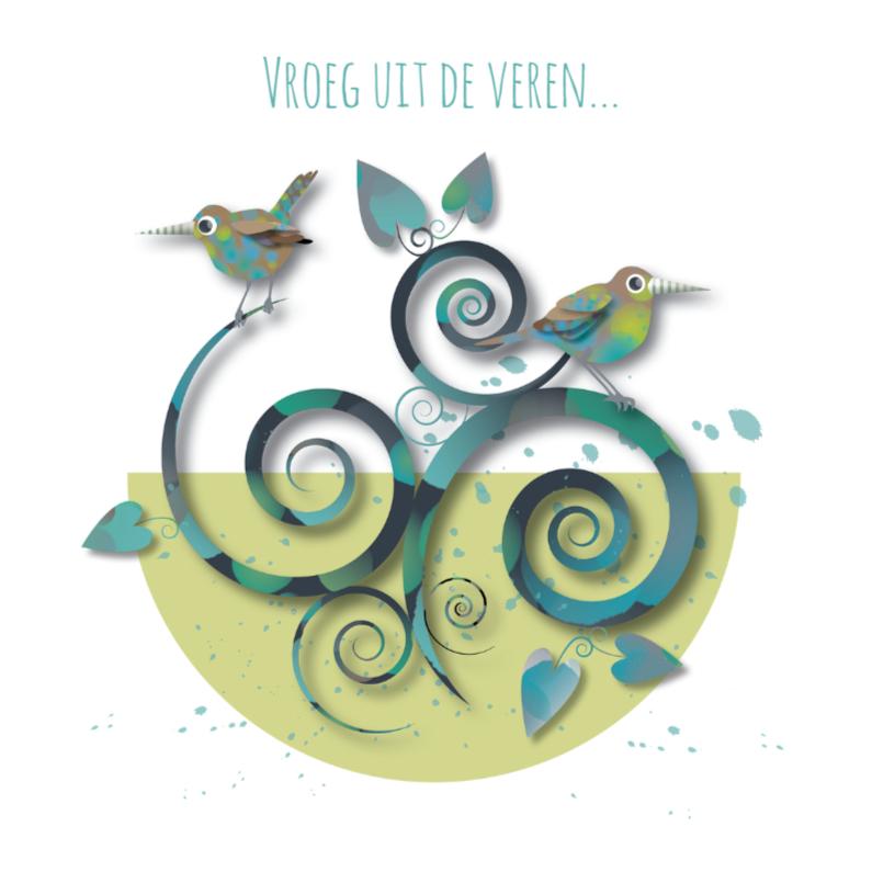 Verjaardagskaarten - Jarig - Strange Birds Groen - MW