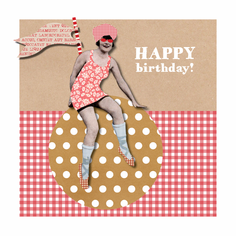 Verjaardagskaarten - Jarig - Vintage Happy Dots - MW