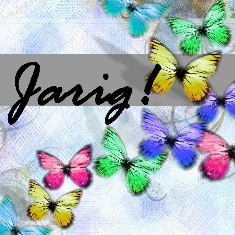 Verjaardagskaarten - Jarig vlindertjes