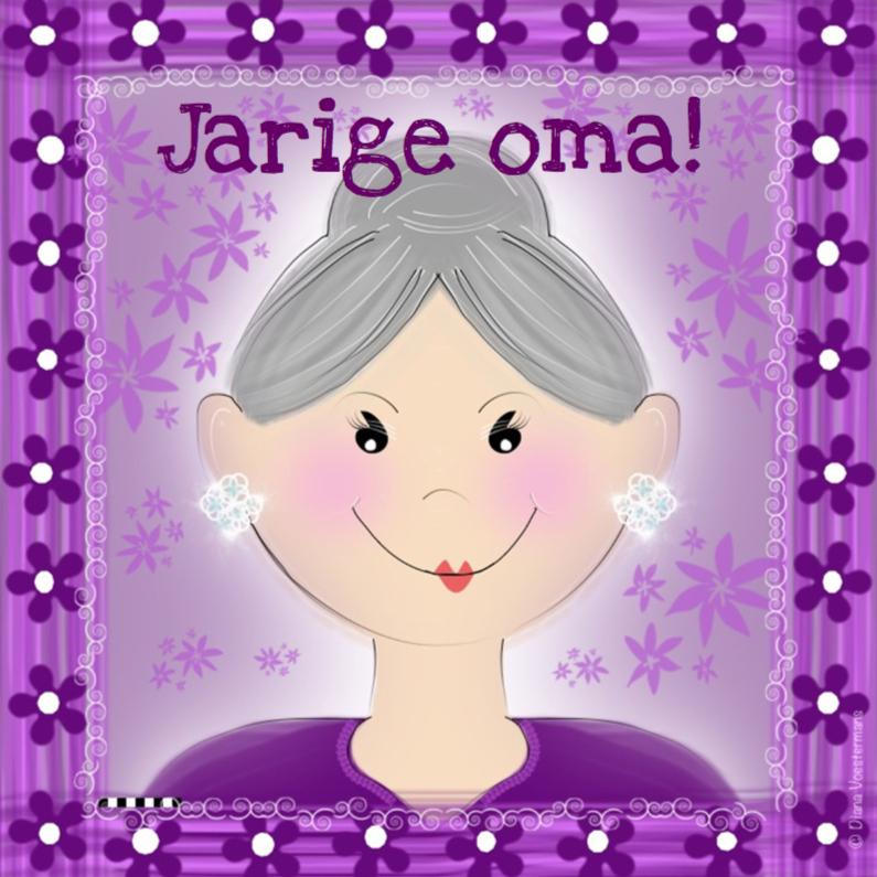 Verjaardagskaarten - Jarige oma