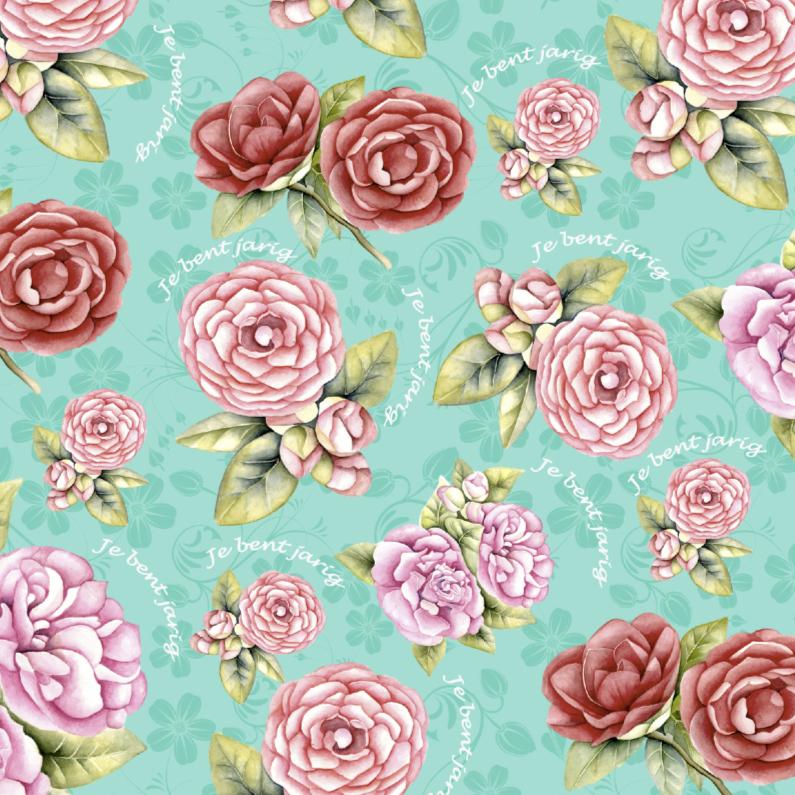 Verjaardagskaarten - jJe bent jarig met rozen