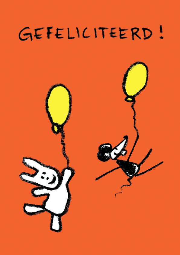 Verjaardagskaarten - Joep & Hop vliegen naar je toe