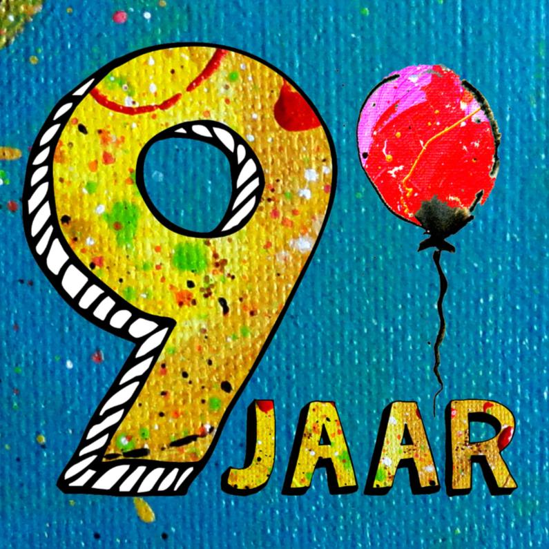 Verjaardagskaarten - Jongen verjaardag 9 jaar