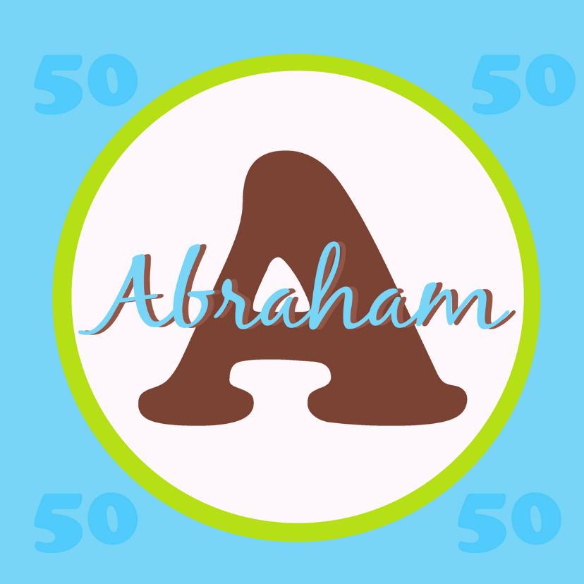 Verjaardagskaarten - Jubileum Abraham 50