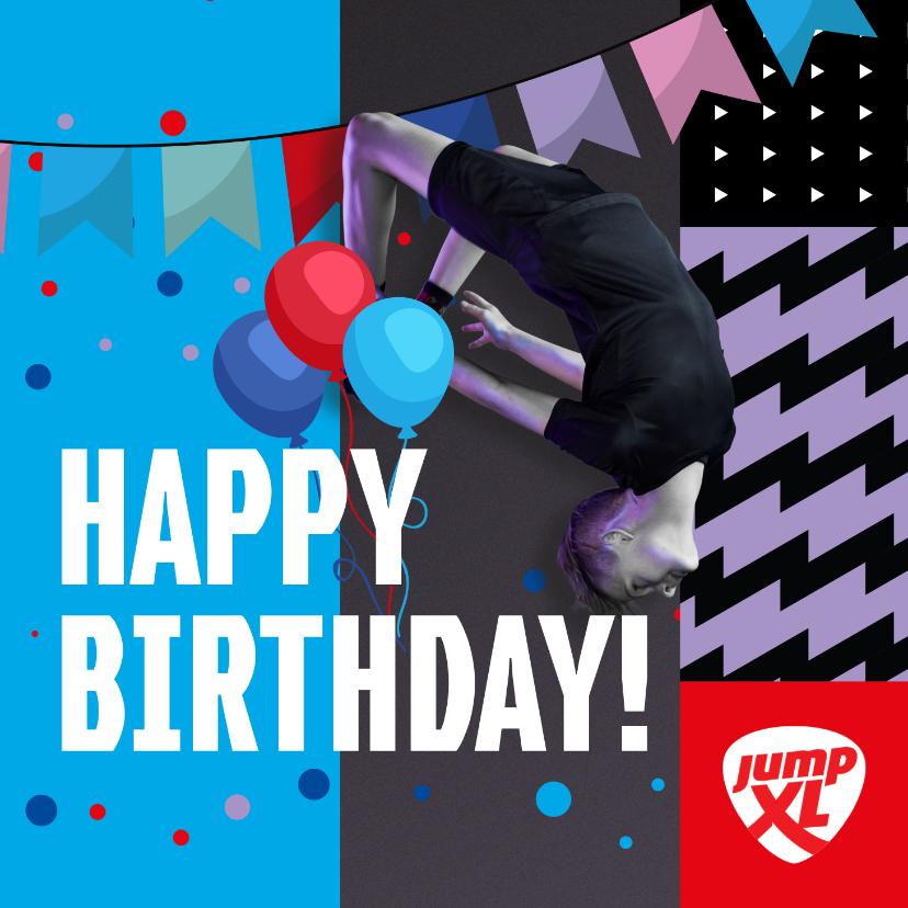 Verjaardagskaarten - Jump XL Verjaardag Felicitatiekaart Jongen