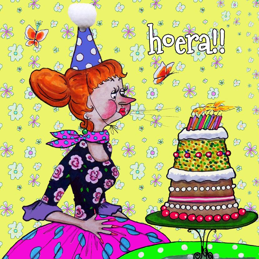 Verjaardagskaarten - Kaarsjes op de taart