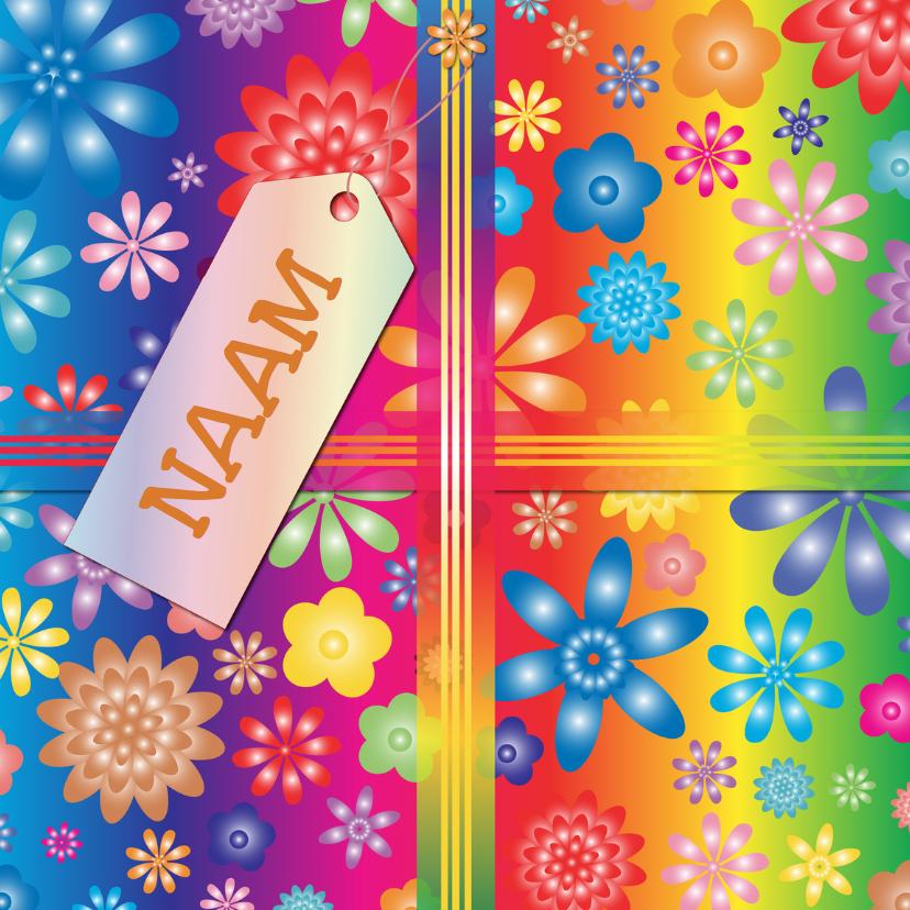 Verjaardagskaarten - kado hippie met eigen naam