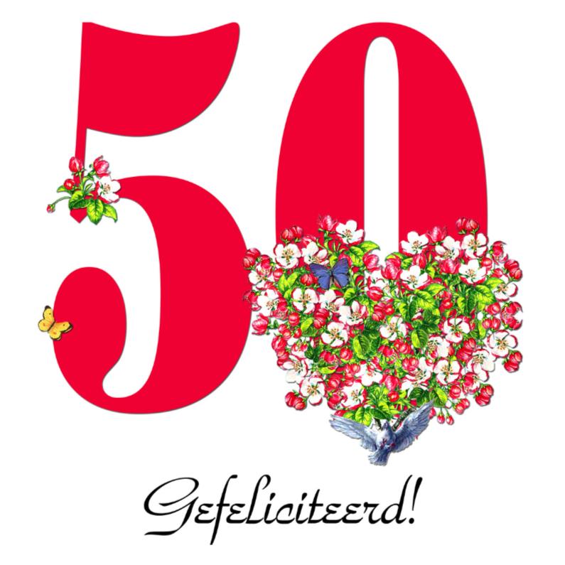 Verjaardagskaarten - KendieKaart-50-Blossom hearts