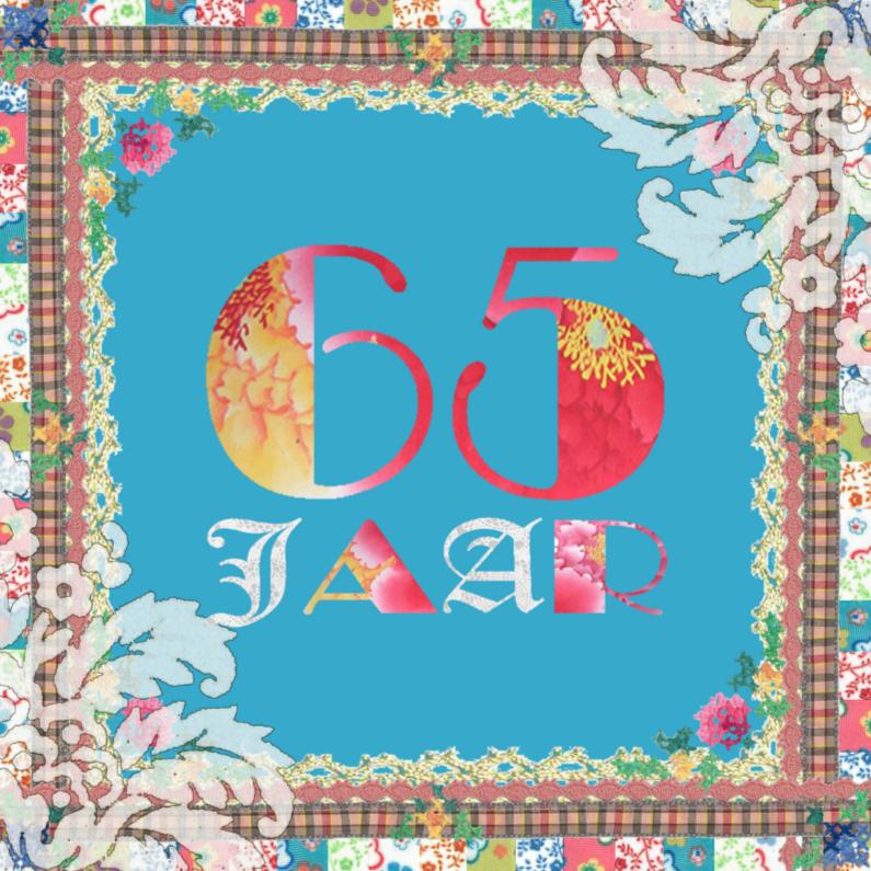 Verjaardagskaarten - KendieKaart-65 jaar-Patchy