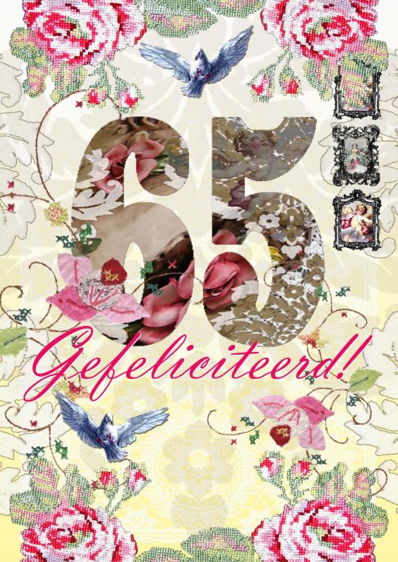 Verjaardagskaarten - KendieKaart-Felicitatie 65-LFD