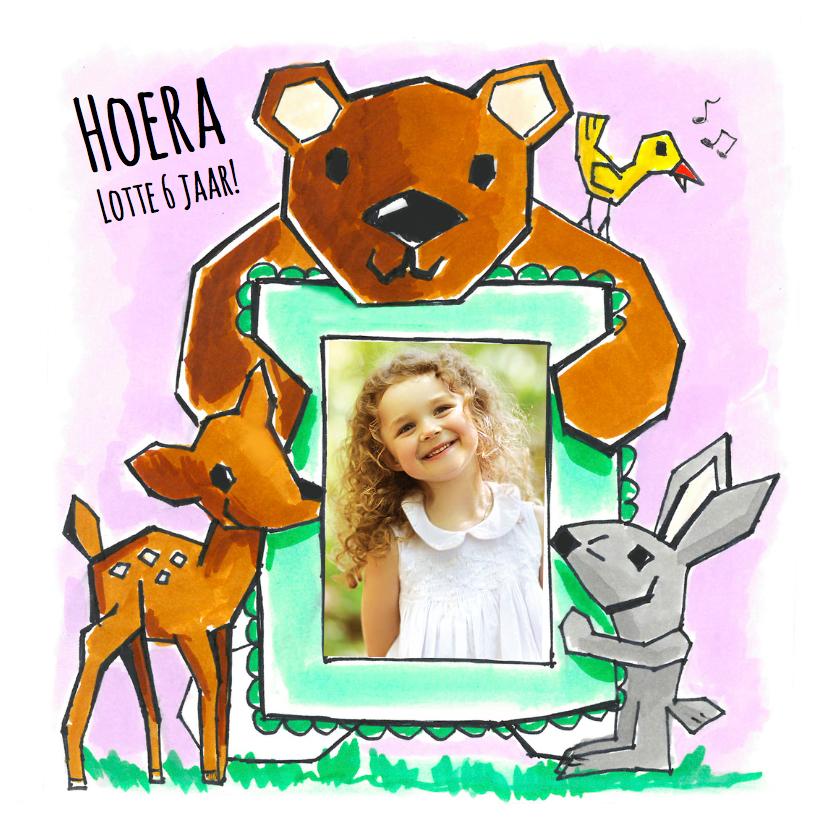 Verjaardagskaarten - Kinderkaart - Fotokaart dieren