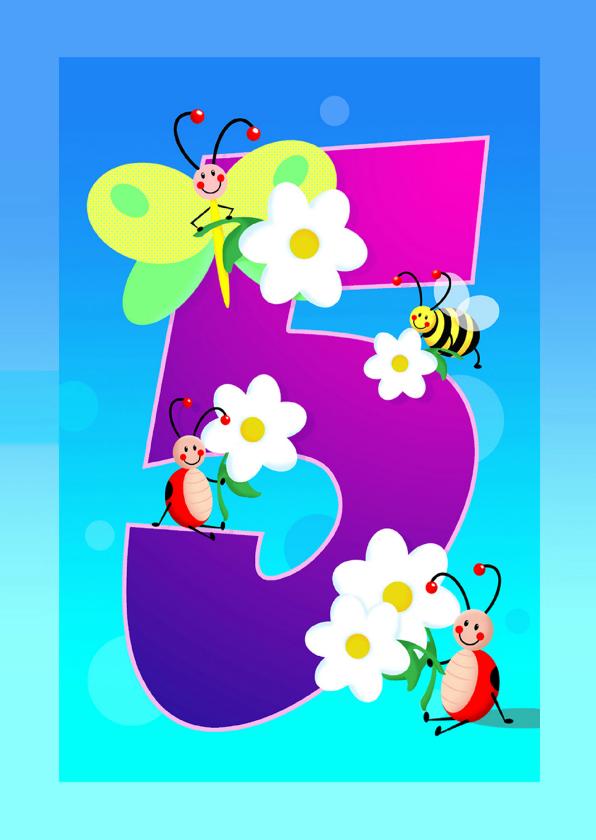verjaardag meisje 5 jaar Verjaardag 5 Jaar Kaart   ARCHIDEV verjaardag meisje 5 jaar