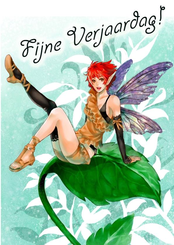 Verjaardagskaarten - Leaf Fairy