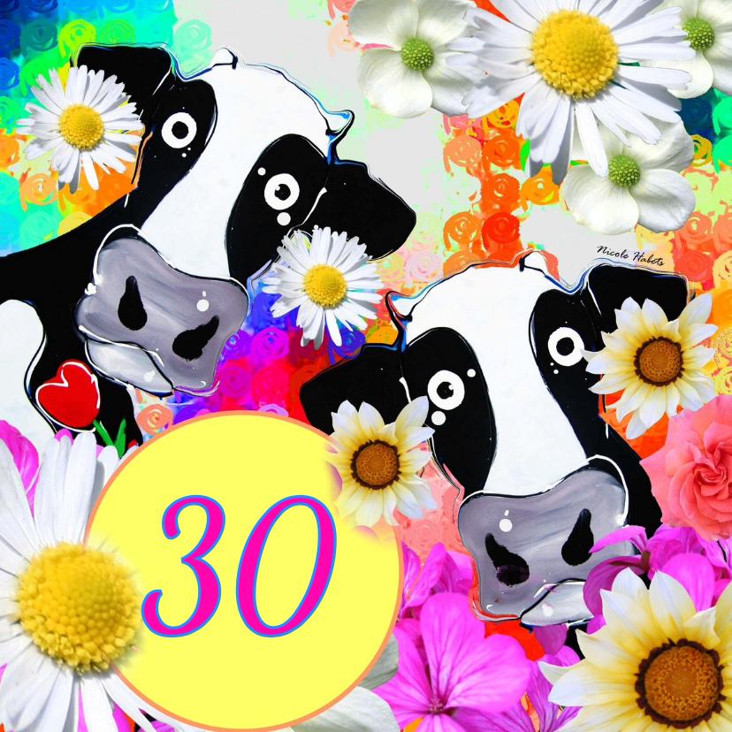 Verjaardagskaarten - Leeftijd koeien