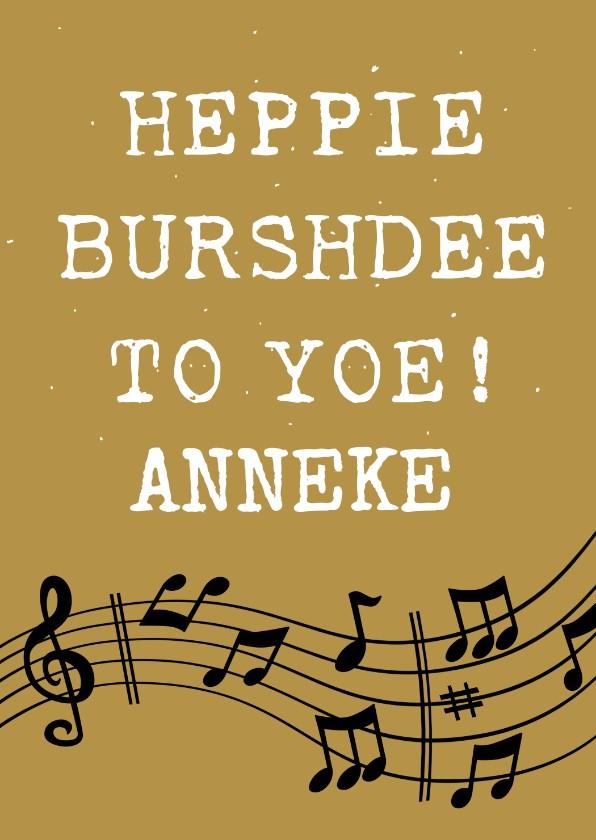 Verjaardagskaarten - Grappige verjaardagskaart Happy Burshdee To Yoe!