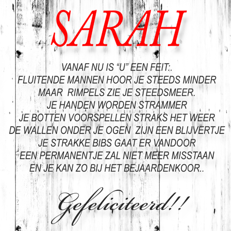 Verjaardagskaarten - made4you-sarah
