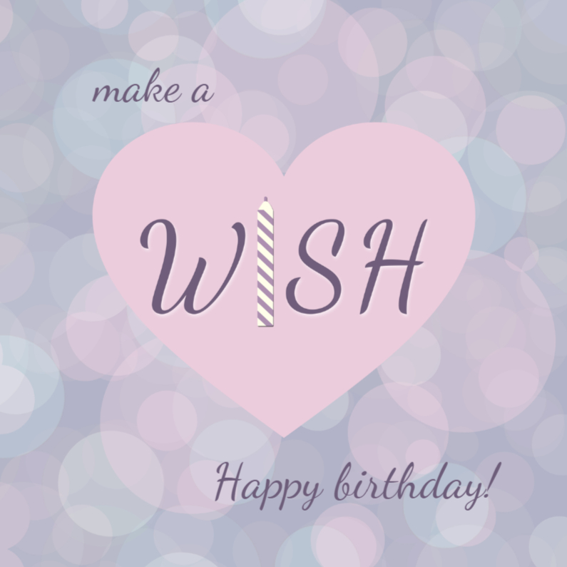 Verjaardagskaarten - make a birthday wish