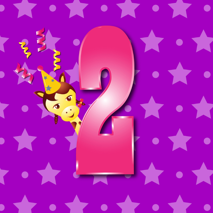 Verjaardagskaarten - meisje2jaar